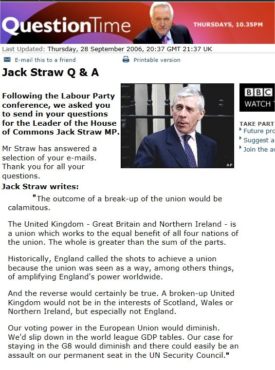 Jack Straw Quote